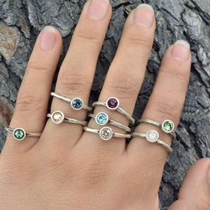 Single Birthstone Stackable Rings, NWT 6, 7, or 8